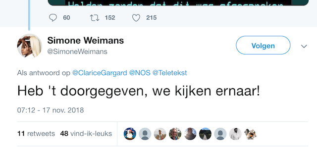 Tweet simone weimans