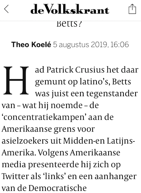 Volkskrant over Betts